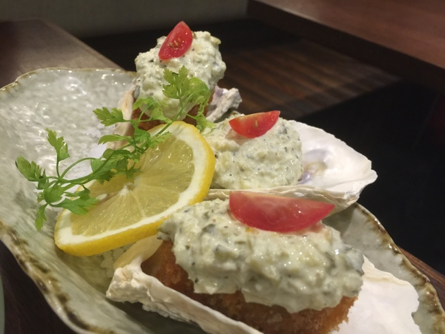Fried oysters @ Katanashi An.